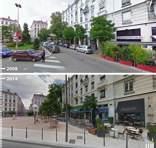 Avenue General Brosset, Lyon, Francia. Cortesia de Urb-I