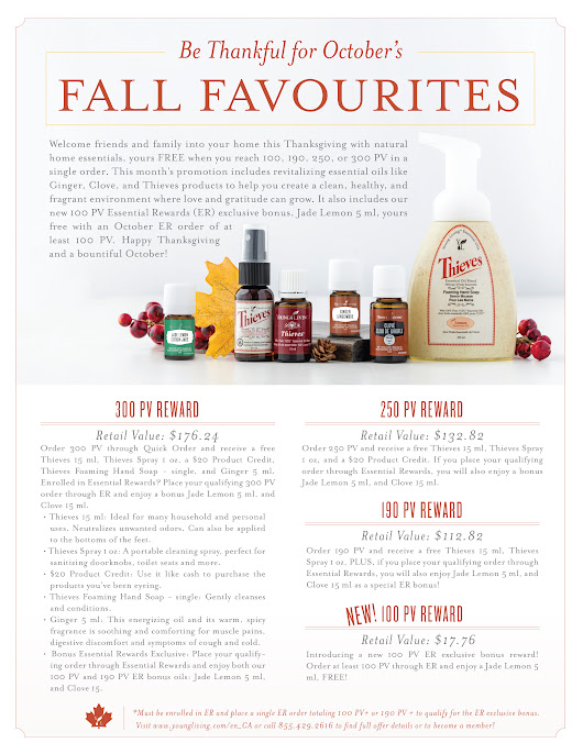 Young Living's October Promos for Canada