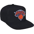 Mitchell and Ness New York Knicks Logo Snapback Hat - Black