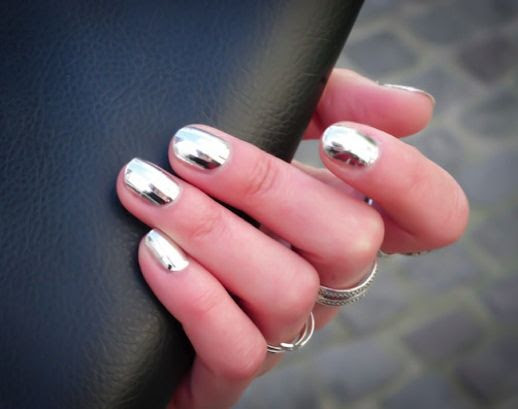 LE FASHION BLOG MINX SILVER METALLIC MANICURE NAIL ART VIA STYLE GROVE 9