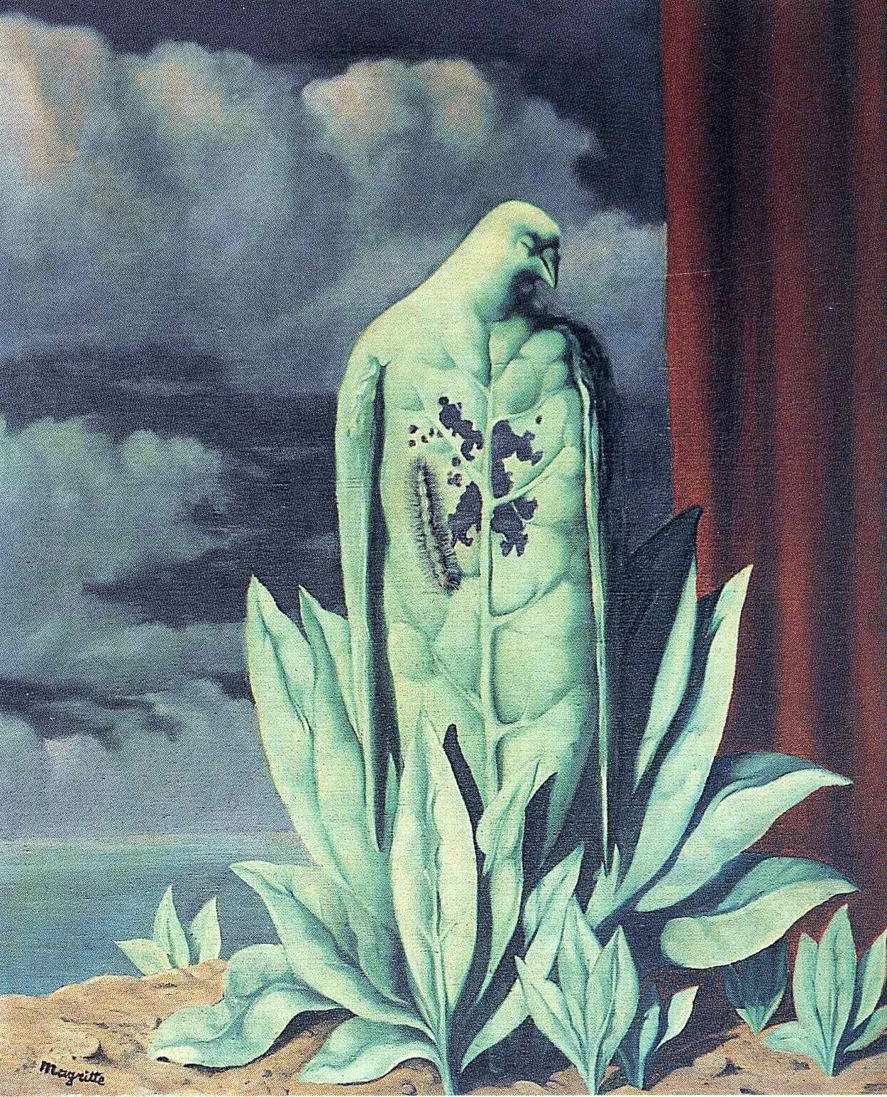 The Taste of Sorrow, 1948 Rene Magritte