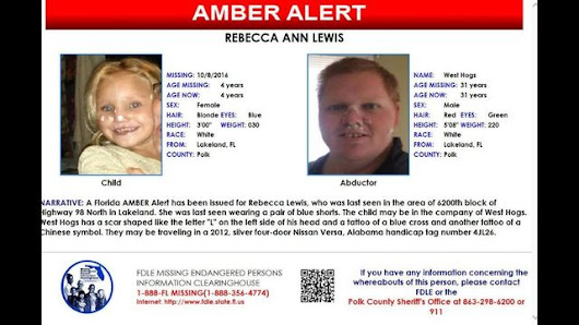 AMBER ALERT issued for four year old Polk Co. girl