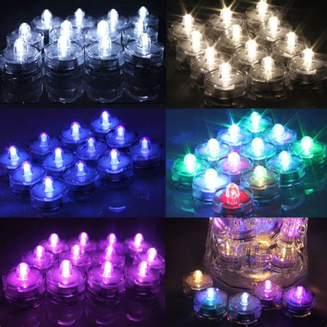 pcs led submersible waterproof wedding christmas