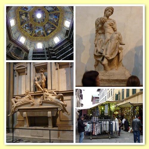 Capilla Medeci y Mercado Central en Florencia