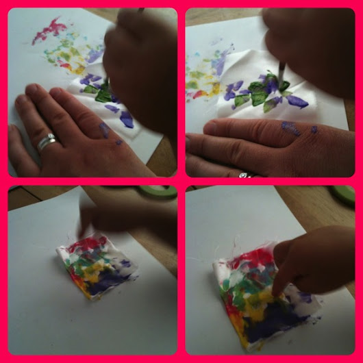 » Silk butterfly painting for kids