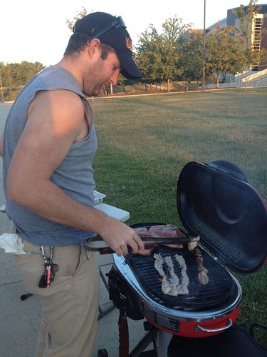 Tailgate grilling