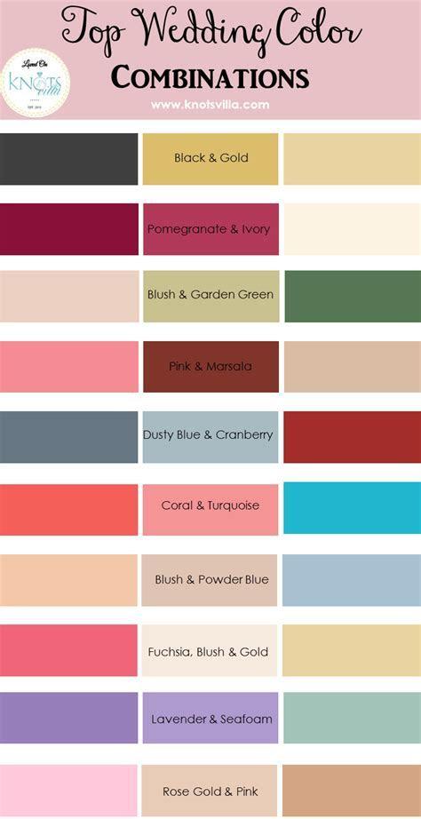 Top Wedding Color Combinations   Wedding colour