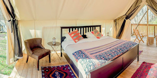 'Glamping' is camping with style