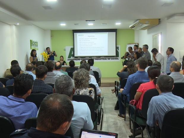 Reunião com secretário de Segurança Pública de RO (Foto: Rede Amazônica)