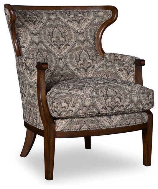A.R.T. Ava Wood Trim Accent Chair in Loden - Traditional ...