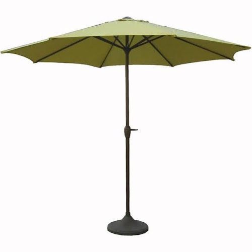 Lb 28406061 9 Outdoor Patio Market Umbrella With Hand Crank And