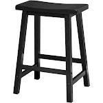 "Winsome 24"" Counter Saddle Seat Bar Stool, Black"