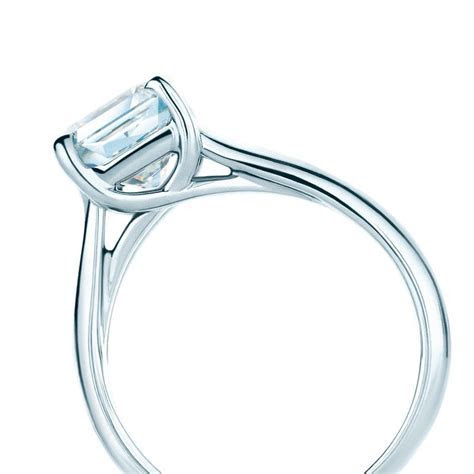 The Lucida® diamond engagement ring with a solid band. #