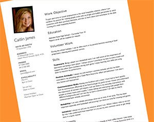 Teenage Resume Template - task list templates