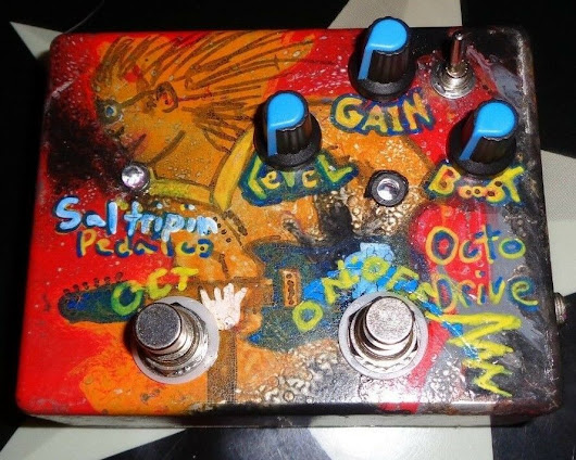 "Details about Sal'tripin Pedal Co""The Stoner Octo Drive"" octave fuzz USA boutique guitar pedal"
