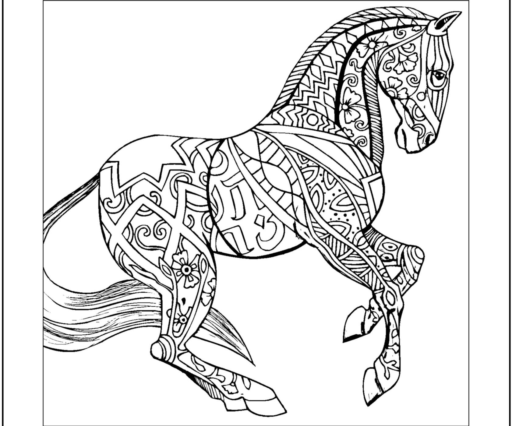 Zentangle Horse Coloring Pages at GetColorings.com | Free ...