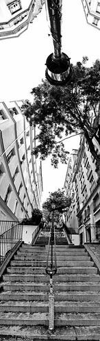 Rue Chappe stairs - Paris panorama - Fuji X10