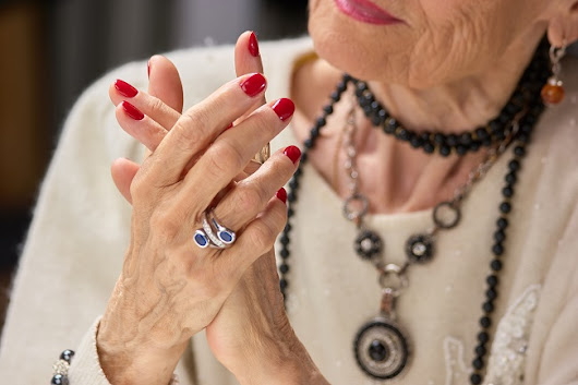Senior Community Building and Making Jewelry Together - Mayberry Gardens