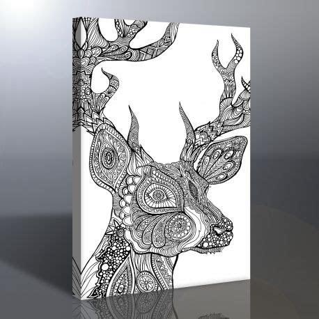 geyik kanvas boyama tablosu mandala tablosu sanatsal
