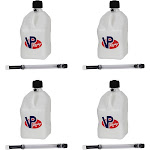 VP Racing 5 Gal Motorsport Racing Utility Jug Can Container & 14' Hose (4 Pack), Size: One Size
