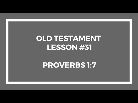 Old Testament Lesson 31 – Gospel Doctrine