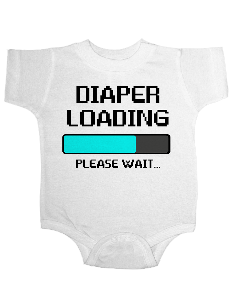 Diaper Loading Funny Onesie Funny Baby Onesie Cute Baby Stuff Baby