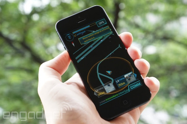 Ingress on an iPhone