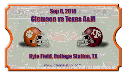 Image: Clemson Tigers vs Texas A&M Aggies Football Tickets | Sep 8, 2018