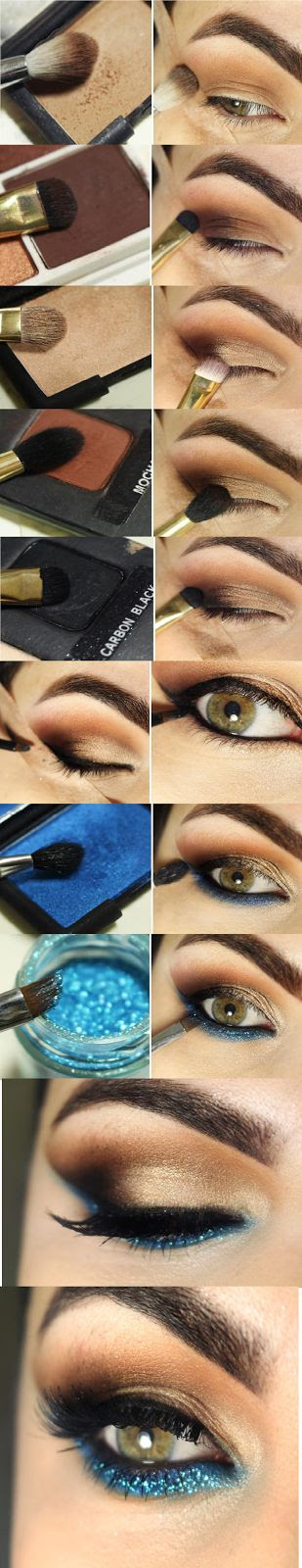 Pearl and Turquoise Eye Makeup Tutorials