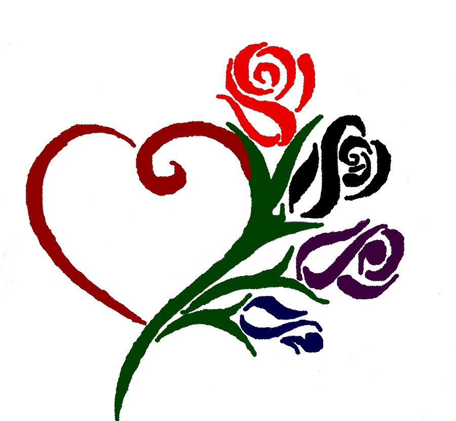 Free Pencil Drawings Of Hearts And Roses Download Free Clip Art