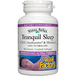 Stress-Relax Tranquil Sleep by Natural Factors, Sleep Aid with Suntheanine L-Theanine, 5-HTP, Melatonin, 90 Softgels
