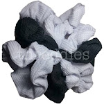 threddies Thermal Scrunchies (Black and White Assortment) / 9 Piece Pack