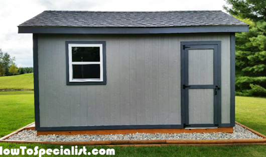 DIY 10x16 Gable Shed | HowToSpecialist - How to Build, Step by Step DIY Plans