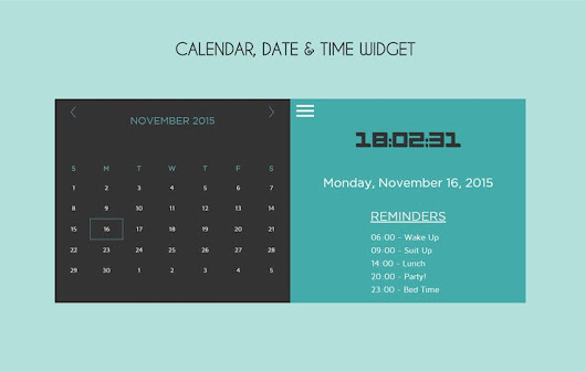 Calendar Date Time Responsive Widget Template by w3layouts