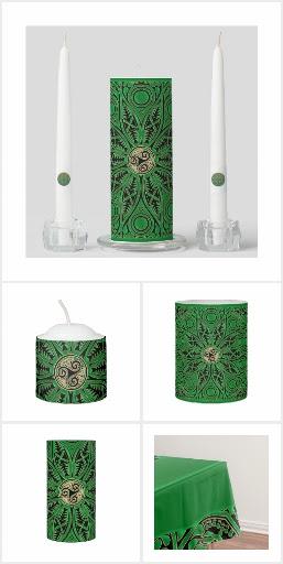 Celtic Green Triskele Mandala