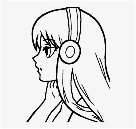 girl base simple easy anime drawings  transparent png