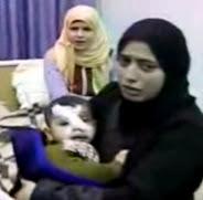 mujeres nino herido gaza