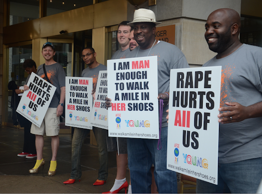 What role do men play in the fight against sexual assault?