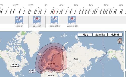 Satellite coverage maps - http://satbeams.com