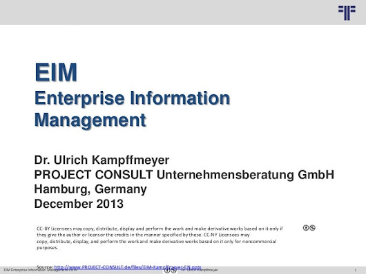 [EN] Enterprise Information Management (EIM) | Ulrich Kampffmeyer | 2…