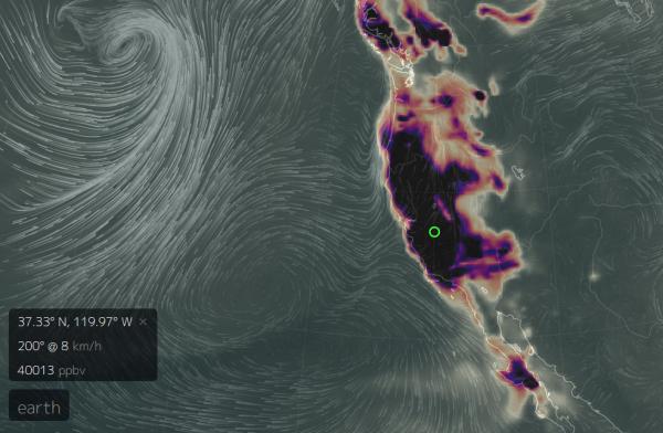 concentrations anomaliques de monoxyde de carbone californie, haute co explosion californie, monoxyde de carbone explosion californie, calfornia grand pic de monoxyde de carbone de, le grand carbone californie monoxid californie, pic Mysterious en monoxyde de carbone sur California - Precursor 'The Big One'