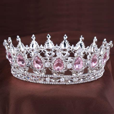 Vintage princess Crystal tiara Pink Rhinestone Bridal Hair