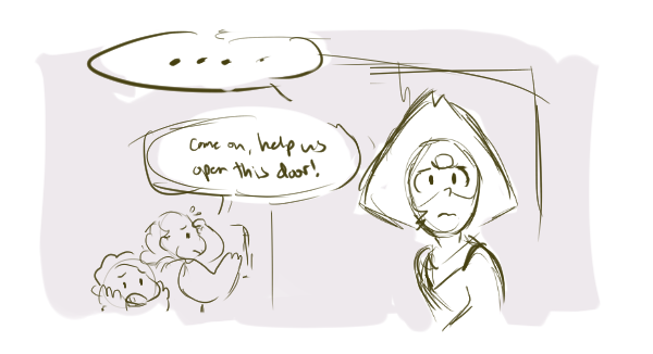 If the writers really wanted to, they would've found a way to make Peridot coming to the rescue mission work, because think about how interesting it would've been if Peridot came instead of Pearl! We...