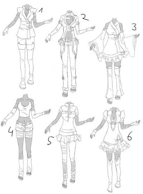 inspiration clothing manga art drawing anime women