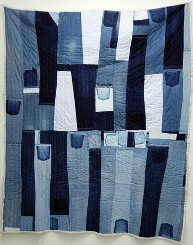 "Gee's Bend Quilts, Loretta Bennett Strip Quilt, 2007. 98"" x 79"". at Elizabeth Leach Gallery"
