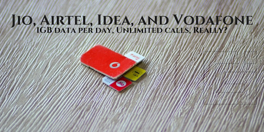 The 1GB Per Day Offers - Jio vs. Airtel vs. Idea vs. Vodafone - The Fineprint! - Gizmo Times