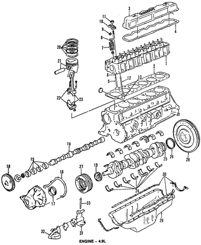 ENGINE for 1996 Ford F-150