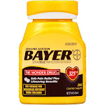 Bayer Genuine Aspirin Pain Reliever/Fever Reducer Coated 325mg Tablets 200 ct Bottle