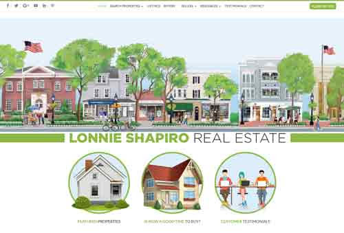 Cool Illustrated Real Estate Design - Lonnie Shapiro - Real Estate Websites, Real Estate Web Design, Custom Websites, Custom Maps