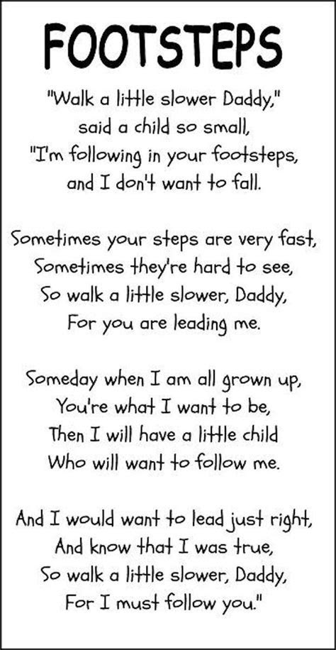 Fathers Day Poem Footsteps Pictures, Photos, and Images